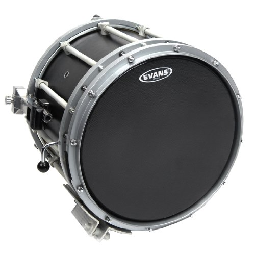 Evans Hybrid-S Black Marching Snare Drum Head, 14 Inch (Snare Hybrid)