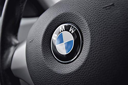 Steering Wheel Emblem For BMW 45mm Adhesive ()