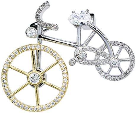 ブローチピン メンズ レディース 胸元 クリスタル ラインストーン 装飾 クリスマスギフト 全2種類 - バイク