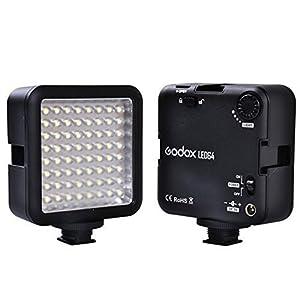 Godox LED 64 Continuous On Camera LED Panel light,Portable Dimmable Camera Camcorder Led Panel Video Lighting for DSLR Camera Conon,Nikon,Sony,Panasonic,Olypus,Fuji etc,Neewer Godox Led lighting (View amazon detail page)