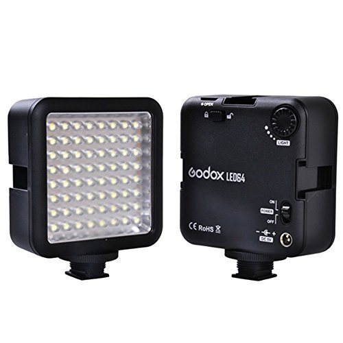 Electronic Flash Instruction Manual - Godox LED 64 Continuous On Camera LED Panel light,Portable Dimmable Camera Camcorder Led Panel Video Lighting for DSLR Camera Conon,Nikon,Sony,Panasonic,Olypus,Fuji etc,Neewer Godox Led lighting (View amazon detail page)