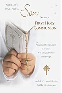 For you son on your first holy communion greetings card sons first son first holy communion card m4hsunfo