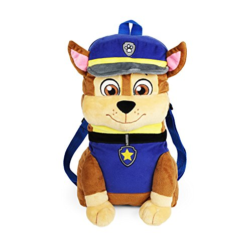 Nickelodeon Paw Patrol Chase 12 Inch Large Compartment All Plush Backpack -