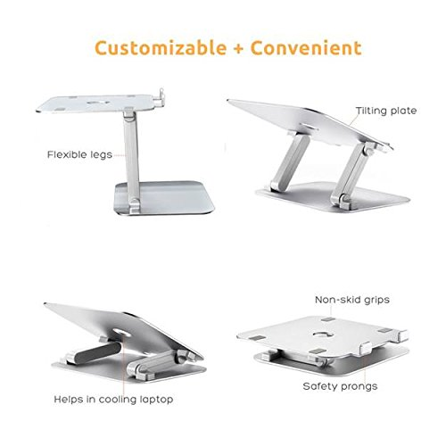 Urbo Z Shaped Laptop Stand with Fully Customizable Viewing Angles and Heights for Elevating Projectors and any Laptops, Notebooks or Tablet Computers from Apple, Acer, Samsung and more