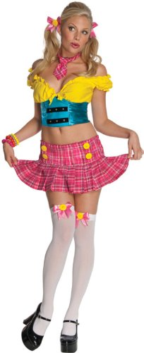 [Secret Wishes Women's Sassy School Girl Adult Costume, Multicolor, Large] (School Girl 4 Piece Costumes)