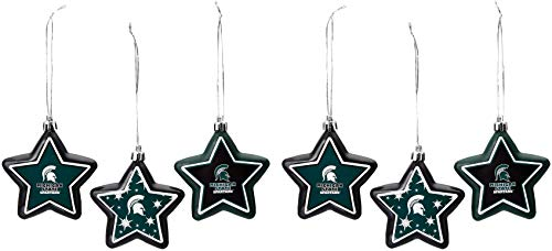 Michigan State Shatterproof 6 Pack Star Ornament Set (Ornaments State Christmas Michigan)