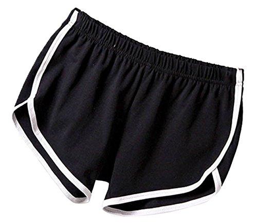 Casual Pantaloncini Nero Jogging Vita da Shorts Corto Irregolare Donna Fitness JackenLOVE Elastico Hot Yoga Pants Estivo Pantaloni Moda Oqfw4xnH5S