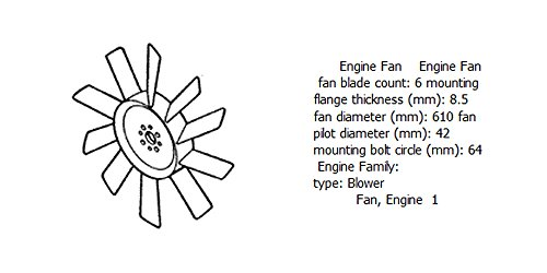Engine fan 4931795 for diesel engine: