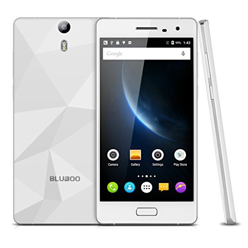Bluboo Xtouch Lte 4G - Smartphone Libre Android 5.1, Blanco