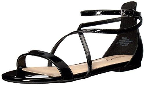 Nine West Women's Dalley Patent Dress Sandal, Black, 5 M US 25026976