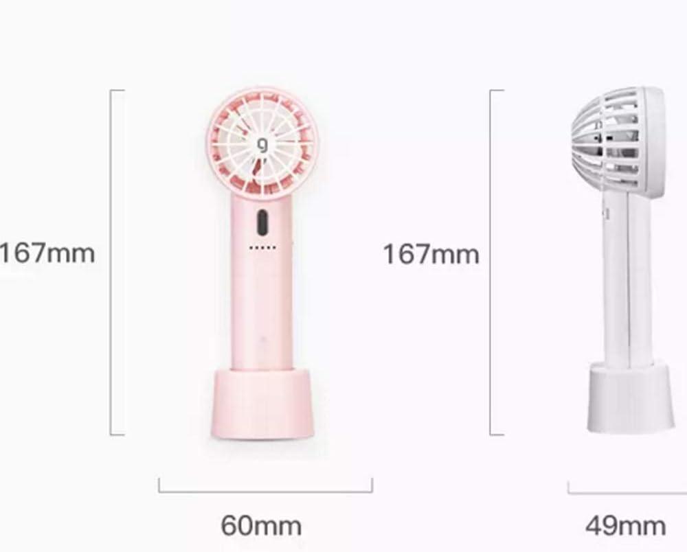 Color : White Air Cooling Fan Simple Mini Fan USB Charging Summer Fan 5 Gear Wind Electric Fan Outdoor Personal Fans
