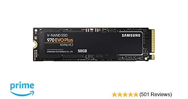 Samsung 970 EVO Plus Series - 500GB PCIe NVMe - M 2 Internal SSD  (MZ-V7S500B/AM)