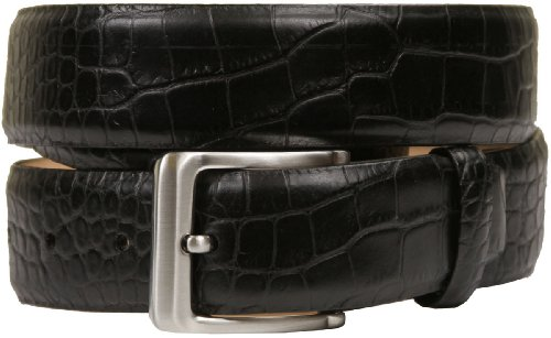 Grove Men's Genuine Italian Leather Dress Belt (42, Alligator Black)