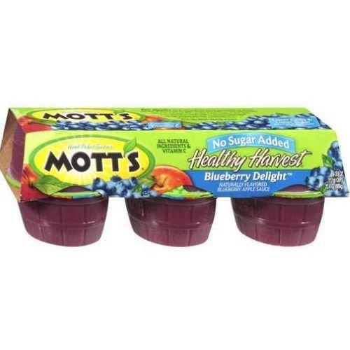 Motts Healthy Harvest (Motts Healthy Harvest Blueberry Delight Apple Sauce - 6 per pack -- 12 packs per case.)