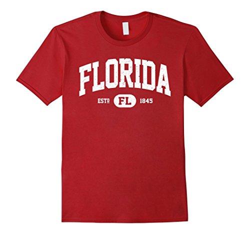Men's Vintage Florida Shirt, Retro Classic T-Shirt FL Gifts Large