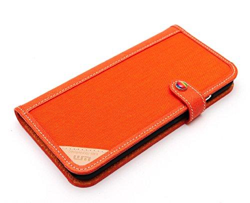 LIM's Designer Cordura Innovation Diary Type Case for iPhone 6 (Orange)