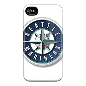 Excellent Hard Phone Cases For Iphone 4/4s (Zhy7201GDhN) Unique Design High Resolution Seattle Mariners Pictures