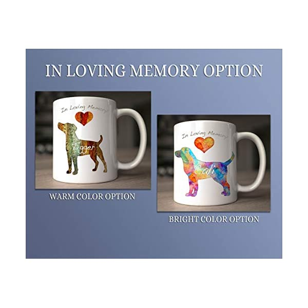 Tibetan Terrier Dog Breed Mug by Artist Dan Morris, Personalize with Dog Name, Two Sizes 5