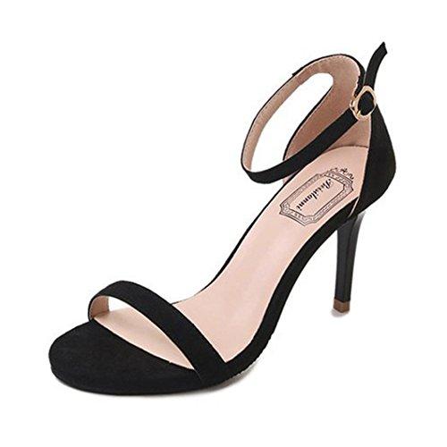 Femme Sandales Bout Noir Talons Femmes Ouvert Partie Talons Sandales à Chaussures Mode à Bloc Oyedens Hauts Femme pour Sandales Fête Cheville dRfBdUYq
