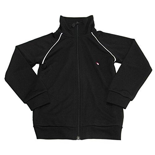 Appaman Big Boys' Zip Up Track Jacket Sz 5 Black -