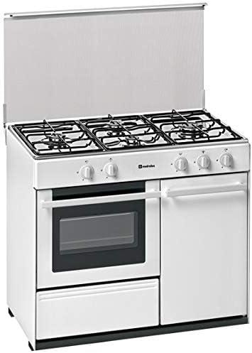 Meireles - Cocina portabombona con 4 quemadores a gas y horno a ...
