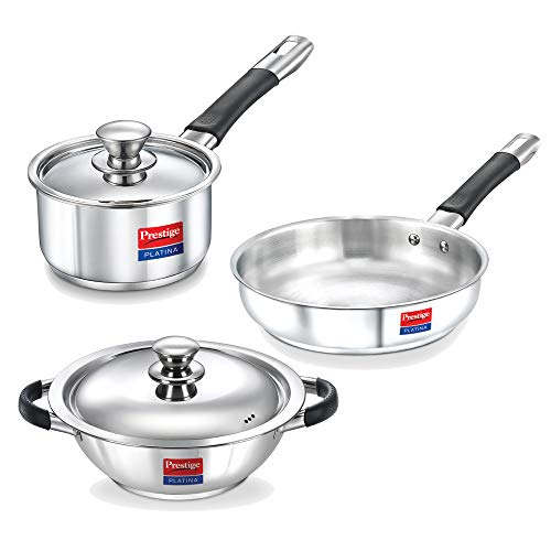 Prestige Platina 3 Piece Stainless steel BYK set Price & Reviews