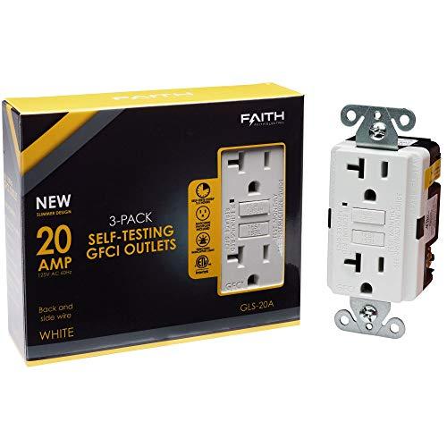 Faith Electric 20A GFCI Outlets Slim