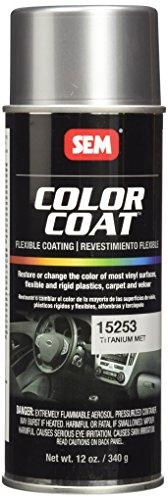 - SEM 15253 Titanium Metallic Color Coat - 12 oz.