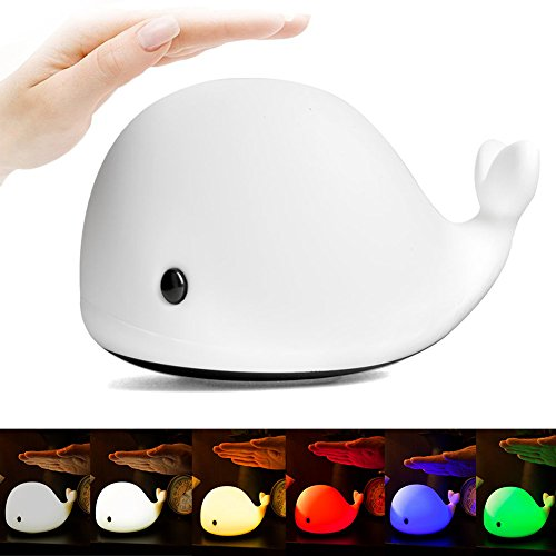 Tap Silicone - Dragon-Hub LED Night Lights,Soft Silicone Beside Lamp USB Charging Nursery Tap Control Light with Dual Modes-6 Colors and Breathing Lights for Kids Adults Baby Children Teens Holiday Gift Bedroom Home