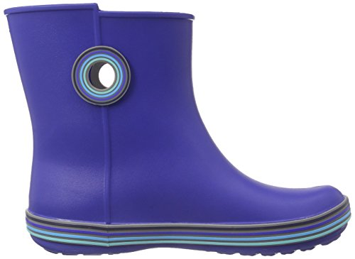 Cerulean Boot Rain Crocs Jaunt Shorty Blue Navy Women's Stripes 1nqxYq6T