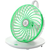 Desk Mini Fan USB Personal Cooling Fan 90° Rotation Wall Mounted Portable Table Quiet Fan for Home Office Dormitory Bedroom, Green