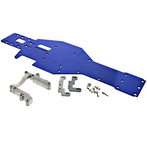 Traxxas Nitro Rustler * ALUMINUM CHASSIS & TRX 2.5 ENGINE MOUNT * T-6 crankcase