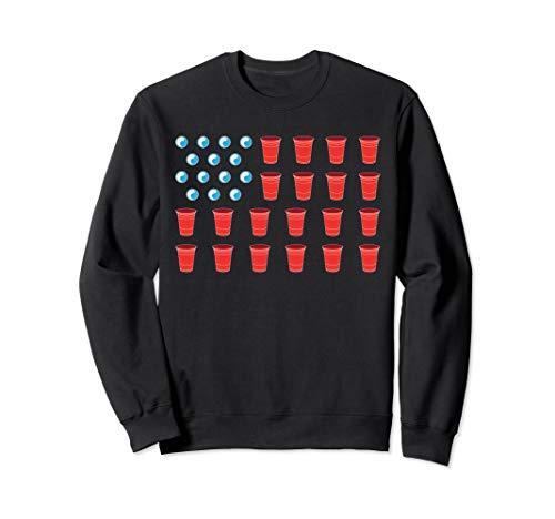 4th of July Beer Pong, American Flag Beer Pong  Sweatshirt