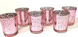 Mercury Votive Candle Holder. Set of 12 (pink)
