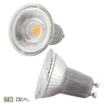 LED - COB foco 6 W 540 lumens 5500 55005500 Kelvin luz blanca fría GU10 ca, 40000h vida útil