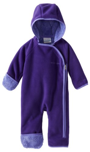 Columbia Unisex-Baby Infant Snow Monkey Bunting, Hyper Purple, 6-12 Months