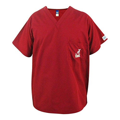 Alabama Crimson Tide Crimson Scrubs Top:XL