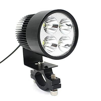 Ecosin Fashion 12V-80V Universal Motorcycle E-bike 20W LED Modified Headlight Lamp