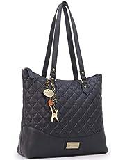 Catwalk Collection Handbags - Dames Quilted Leer Tote/Schouder Tas - SOFIA