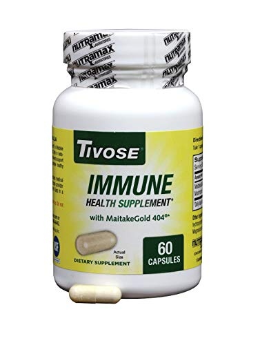 Tivose Immune Health Supplement with Maitake Mushroom Extract, Supports Your Body's Immune Defenses, 60 Capsules
