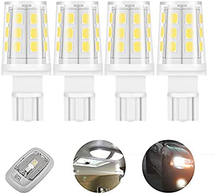 Amazon Com 921 912 T5 T10 Wedge 3w 380lm 12 Volt Led Light Bulb For Rv Camper Motorhome Boat Marine Yacht Interior Light Bulbs 35 40w Replacement Warmwhite 3000k 4 Pack Automotive