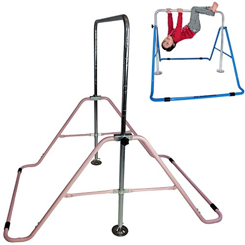 Jungle Kids Gym Horizontal Hanging Monkey Bar Gymnastics Indoor Playground Pink