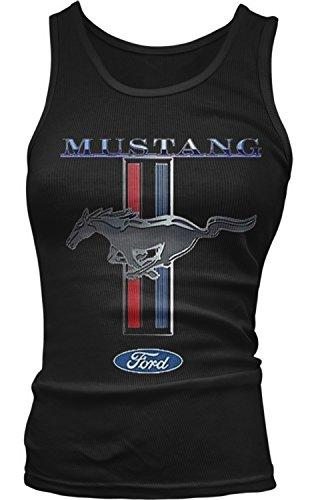 - Amdesco Junior's Officially Licensed Ford Mustang Pony Emblem Tank Top, Black Large