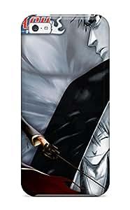 Iphone 5c Case Cover - Slim Fit Tpu Protector Shock Absorbent Case (bleach Ichigo)