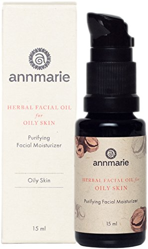 Annmarie Skin Care Herbal Facial Oil for Oily Skin - Purifying Moisturizer with Black Cumin Seed Oil, Hazelnut Oil + White Willow Bark (15ml / 0.5 fl oz)