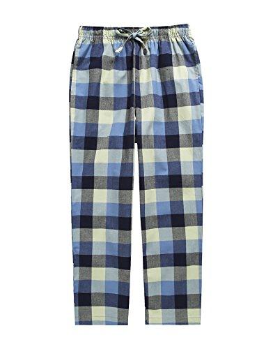 TINFL Boys Plaid Check Soft 100% Cotton Lounge Pants BLP-SB008-Olive-L