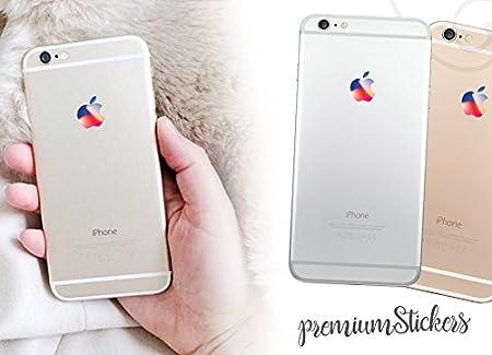 Pack de 2 pegatinas con el logotipo de Apple en diseño retro para Macbook Retro. Diseño de eventos especiales para iPhone