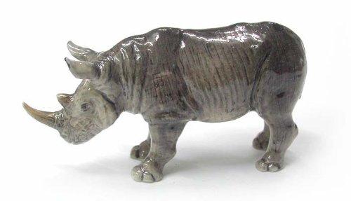 RHINOCEROS Rhino MINIATURE New stands Porcelain NORTHERN ROSE R177
