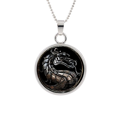 Mortal Kombat Pendant Necklace Character Cartoon Superhero Gaming Console PC Games Logo Theme Cosplay Premium Quality Detailed Jewelry Gift -