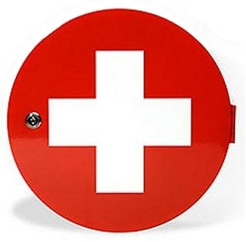 Red Cross Medicine Round Bathroom Cabinet: Amazon.co.uk: Kitchen ...
